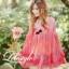 K603 *หมดค่ะ*เสื้อผ้าชีฟองลายดอกไม้ สีแดงไล่ระดับสีลงมา คอกลม แบ thumbnail 1