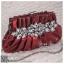 bs0013 กระเป๋าคลัช สีแดง กระเป๋าออกงานพร้อมส่ง ราคาถูกกว่าเช่า แบบสวยๆ ดูดีเหมือนดาราใช้ thumbnail 1