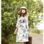 K558*หมดค่ะ*เดรสผ้าคอตต้อน พิมพ์ลายดอกไม้สีฟ้า คอเสื้อแต่งลูกไม้ thumbnail 1