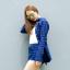 เสื้อลายสก๊อตผู้หญิงสีน้ำเงิน thumbnail 2