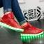รองเท้ามีไฟ รองเท้า LED หุ้มข้อ สีแดง เปลี่ยนสีได้ 11 สี สินค้าพรีออเดอร์ thumbnail 3