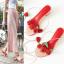 รองเท้าหัวปลา ส้นสูง เปิดส้น แฟชั่นหนังแท้ แต่งดอกกุหลาบ มีสายพันรอบขา สีชมพูสวยหวานสไตล์เจ้าหญิง thumbnail 1