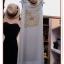 KTE105 หมดค่ะ Maxi Dress เซ็ต2ชิ้น ตัวเดรสสีเทาพิมพ์ลายดอกไม้ thumbnail 1