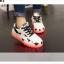รองเท้ามีไฟ รองเท้า LED สีขาว มีลายรูปดาวสีดำ เปลี่ยนสีได้ 11 สี สินค้าพรีออเดอร์ thumbnail 7