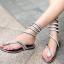 [มี2สี] รองเท้าแตะแบบหนีบ สไตล์โรมัน ประดับเพชร ลายงูพันรอบขา ใส่สบาย ระบายอากาศ เหมาะกับหน้าร้อนบ้านเราค่ะ thumbnail 1