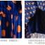 *SALE ลดราคาต่ำกว่าทุน* K1039 พร้อมส่งค่ะ เดรสชีฟองสีน้ำเงินลายจุดส้มสด คอบัวสีขาว thumbnail 7