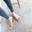 [มีหลายสี] รองเท้าแตะแฟชั่น ส้นเตี้ย หน้าคาดพลาสติกใส คีบนิ้วโป้ง พื้นแต่งขนเฟอร์ thumbnail 1