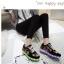 รองเท้ามีไฟ รองเท้า LED สีดำ มีลายเพ้นท์หลายสี เปลี่ยนสีได้ 11 สี สินค้าพรีออเดอร์ thumbnail 5