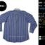 C2342 เสื้อเชิ้ต ผู้ชายสีฟ้า กระดุมมุก ไซส์ใหญ่ thumbnail 2
