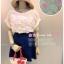 *หมดค่ะ* C146 เสื้อชีฟองเนื้อทรายปักดอกไม้ thumbnail 1