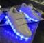 รองเท้ามีไฟ รองเท้า LED สีขาว แบบไม่มีเชือกผูกรองเท้า เปลี่ยนสีได้ 11 สี สินค้าพรีออเดอร์ thumbnail 6