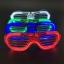 แว่นตาเรืองแสง แบบตาราง มีไฟ LED กระพริบ 3 โหมด thumbnail 1
