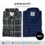 เสื้อลายสก๊อตสีน้ำเงิน - เสื้อลายสก๊อตสีเทา แพคคู่ สุดฮิต thumbnail 1