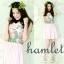 HAM186 หมดค่ะ HAMLET เดรสสีชมพูลายดอกไม้ คอปกสีดำ thumbnail 1