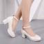[มีหลายสี] รองเท้าส้นสูงใส่ออกงาน แฟชั่นหนังpu แต่งกลิตเตอร์วุ้งวิ้ง มีหัวเข็มขัดรัดข้อ ประดับมุกสีขาว ส้นใหญ่ ทรงสวย หวาน สุภาพ สไตล์เจ้าหญิง ส้นสูง 2.5 นิ้ว thumbnail 2