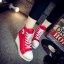 [มีหลายสี] รองเท้าผ้าใบส้นสูง หุ้มข้อ ผูกเชือกด้านหน้า ทรงสวย น้ำหนักเบา เสริมส้นสูงด้านในสไตล์เกาหลี thumbnail 4