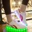 รองเท้ามีไฟ รองเท้า LED สีขาว มีแถบสีแดง2เส้น เปลี่ยนสีได้ 11 สี สินค้าพรีออเดอร์ thumbnail 1
