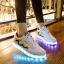 รองเท้ามีไฟ รองเท้า LED สีขาว มีแถบสีเหลืองดำ เปลี่ยนสีได้ 11 สี สินค้าพรีออเดอร์ thumbnail 4