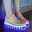 รองเท้ามีไฟ รองเท้า LED สีทอง เปลี่ยนสีได้ 11 สี สินค้าพรีออเดอร์ thumbnail 4
