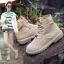 รองเท้าบูทกันหนาว บูทสั้นผู้หญิงทรงมาร์ติน แฟชั่นหนังpu สีกากี ผูกเชือก สวยสไตล์อังกฤษทรงย้อนยุค thumbnail 1