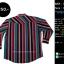 C2302 เสื้อเชิ้ตลายทาง สีแดง เขียว กระดุมมุก ทรง Western thumbnail 2