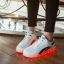 รองเท้ามีไฟ รองเท้า LED สีขาว มีแถบสีดำ2เส้น เปลี่ยนสีได้ 11 สี สินค้าพรีออเดอร์ thumbnail 3