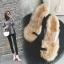 [มีหลายสี] รองเท้าส้นสูง แฟชั่นหนัง pu คีบนิ้วโป้ง คาดหน้าพลาสติกใส พื้นขนเฟอร์ ส้นสูง 3 นิ้ว thumbnail 2