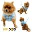 HIPIDOG สายจูงสุนัข เสื้อจูงสุนัข ลายสก๊อตสีฟ้า