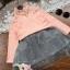 Pre-order เสื้อลูกไม้แขนยาว / แพ็คละ 5 ชุด / สีชมพู thumbnail 4
