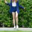 เสื้อลายสก๊อตผู้หญิงสีน้ำเงิน thumbnail 4