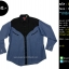 C2383 เสื้อเชิ้ตผ้ายีนส์ คาวบอย กระดุมมุก ไซส์ใหญ่ thumbnail 1