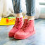 [พร้อมส่ง] รองเท้าขนสัตว์ รองเท้าบูทสั้น แบบร้อยเชือก แฟชั่นหนังpu สีครีม กำมะหยี่ด้านใน ทรงสวย แฟชั่นหน้าหนาว thumbnail 2