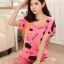 ชุดนอนแขนสั้นน่ารัก ลายวัว สีชมพู thumbnail 2