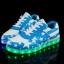 รองเท้ามีไฟ รองเท้า LED สีขาวฟ้า มีลายรูปดาว เปลี่ยนสีได้ 11 สี สินค้าพรีออเดอร์ thumbnail 1