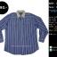 C2342 เสื้อเชิ้ต ผู้ชายสีฟ้า กระดุมมุก ไซส์ใหญ่ thumbnail 1