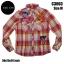 C3003 เสื้อลายสก๊อตแนวๆ มีTag ติดเสื้อ เสื้อลายสก๊อต Biker thumbnail 1