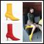 [มีหลายสี] รองเท้าบูทสั้นผู้หญิงส้นสูง ส้นแหลม วัสดุหนังแท้+ผ้ายืด คุณภาพสูง สวย แฟชั่นสไตล์ยุโรป ส้นสูงประมาณ 2 นิ้ว thumbnail 1