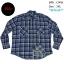 C1418 เสื้อลายสก๊อตผู้ชาย สีฟ้า ไซส์ใหญ่ thumbnail 1