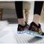 รองเท้ามีไฟ รองเท้า LED สีดำ มีลายเพ้นท์หลายสี เปลี่ยนสีได้ 11 สี สินค้าพรีออเดอร์ thumbnail 6