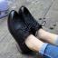[มี2สี] รองเท้าบูทส้นเตี้ย สไตล์อังกฤษ ทรงย้อนยุค แฟชั่นหนังแท้+หนัง pu แต่งพู่ด้านหน้า ส้นสูง 1.5 นิ้ว thumbnail 2