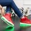 รองเท้ามีไฟ รองเท้า LED หุ้มข้อ สีแดง เปลี่ยนสีได้ 11 สี สินค้าพรีออเดอร์ thumbnail 4