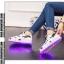 รองเท้ามีไฟ รองเท้า LED สีขาว มีลายรูปดาวสีดำ เปลี่ยนสีได้ 11 สี สินค้าพรีออเดอร์ thumbnail 9