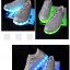 รองเท้ามีไฟ รองเท้า LED สีเงิน เปลี่ยนสีได้ 11 สี สินค้าพรีออเดอร์ thumbnail 8