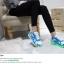 รองเท้ามีไฟ รองเท้า LED สีขาวฟ้า มีลายรูปดาว เปลี่ยนสีได้ 11 สี สินค้าพรีออเดอร์ thumbnail 5