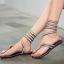 [มี2สี] รองเท้าแตะแบบหนีบ สไตล์โรมัน ประดับเพชร ลายงูพันรอบขา ใส่สบาย ระบายอากาศ เหมาะกับหน้าร้อนบ้านเราค่ะ thumbnail 2
