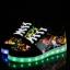 รองเท้ามีไฟ รองเท้า LED สีดำ มีลายเพ้นท์หลายสี เปลี่ยนสีได้ 11 สี สินค้าพรีออเดอร์ thumbnail 1