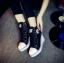 [มีหลายสี] รองเท้าผ้าใบส้นสูง หุ้มข้อ ผูกเชือกด้านหน้า ทรงสวย น้ำหนักเบา เสริมส้นสูงด้านในสไตล์เกาหลี thumbnail 3