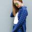 เสื้อลายสก๊อตผู้หญิงสีน้ำเงิน thumbnail 3