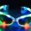 แว่นตาเรืองแสงมีไฟ LED กระพริบ 3 โหมด แบบใส มีเลนส์กันแดด มีไฟ 3 สี thumbnail 1