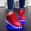 รองเท้ามีไฟ รองเท้า LED หุ้มข้อ สีแดง เปลี่ยนสีได้ 11 สี สินค้าพรีออเดอร์ thumbnail 2